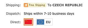Zboží je skladem také v EU (Něměcko)