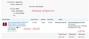 Informace o Vaší objednávce z eshopu  - AliExpress